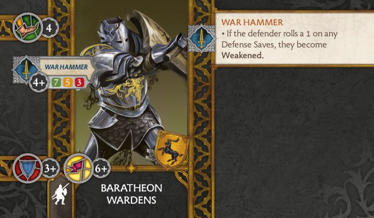 Baratheon Wardens Unit Art Card