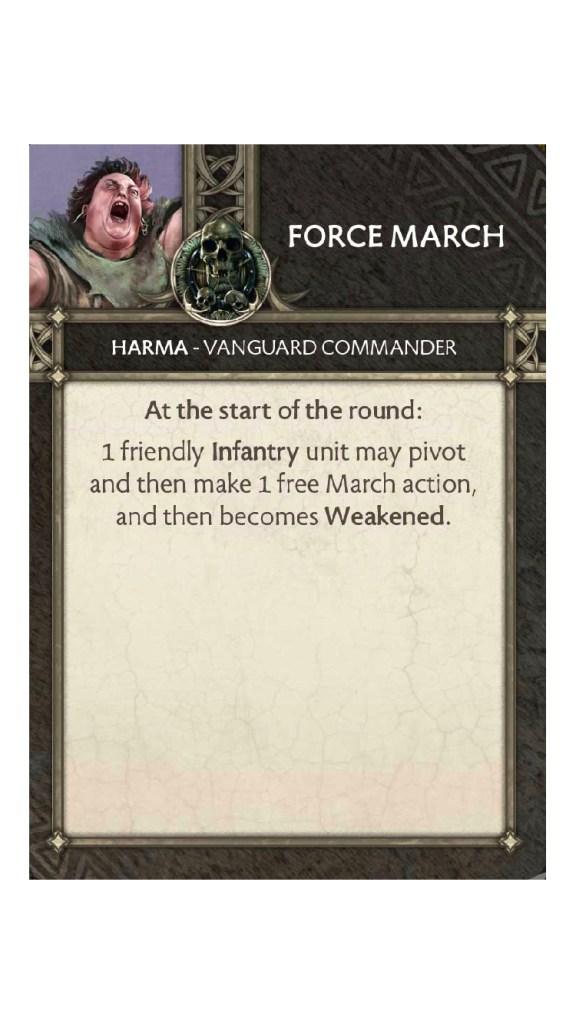 Harma Force March Tactics caRD