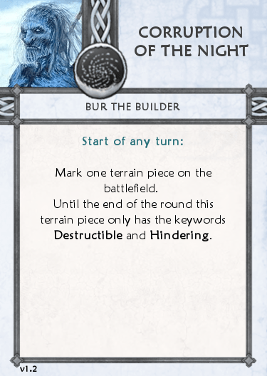 Others Tactics Card - Corruption of the Night