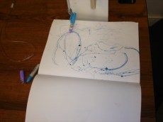 Drawbot in motion