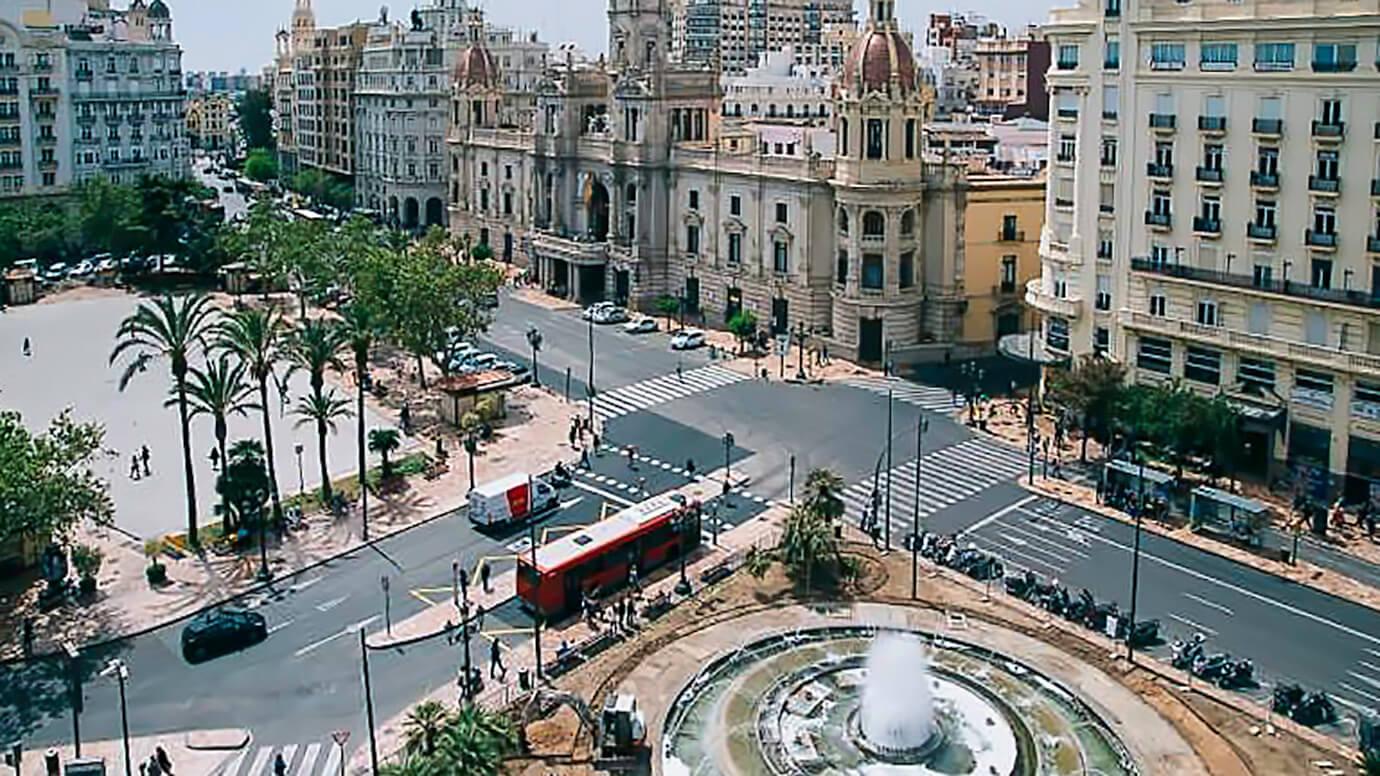 Valencia, Plaza Ayuntamiento, Gemeentehuis, schopping