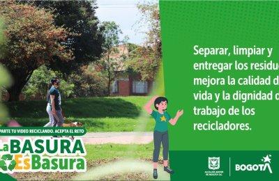 ¡Conéctate! En el #Reto2Semanas por la vida vamos a cambiar la manera de disponer los residuos en casa.#LaBasuraNoEsBasura