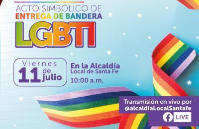 ACTO SIMBOLICO DE ENTREGA DE BANDERA LGBTI