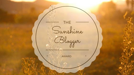 The 'Sunshine Blogger Award'