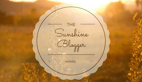 The 'Sunshine Blogger Award'