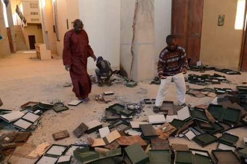 Remains of a library in Timbuktu.