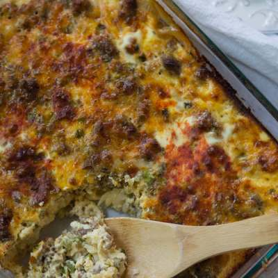 overnight sausage and egg casserole   A Southern Fairytale