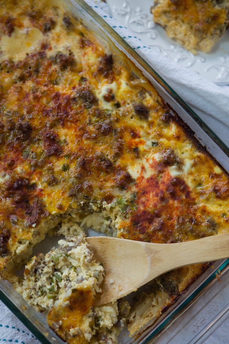 overnight sausage and egg casserole | A Southern Fairytale