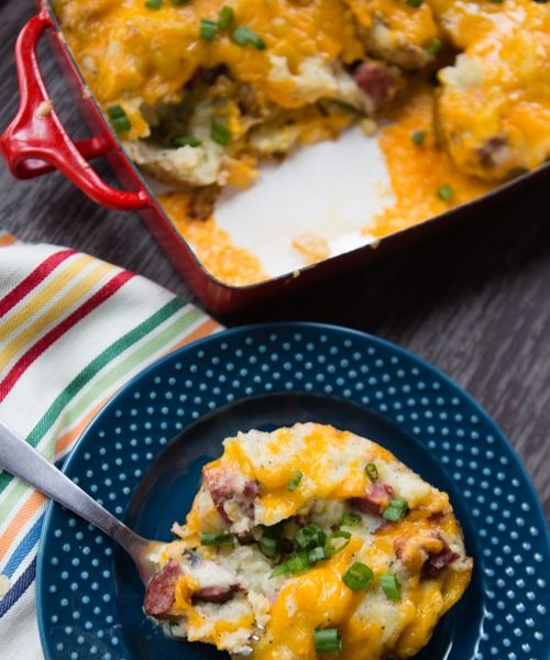 Grilled Sausage Stuffed Twice Baked Potatoes