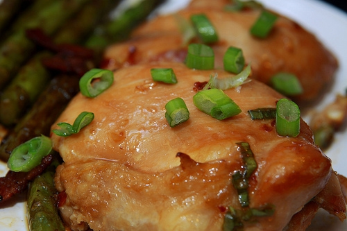 Garlic and Honey Baked Chicken Thighs