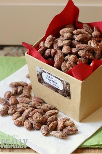 oven roasted cinnamon almonds