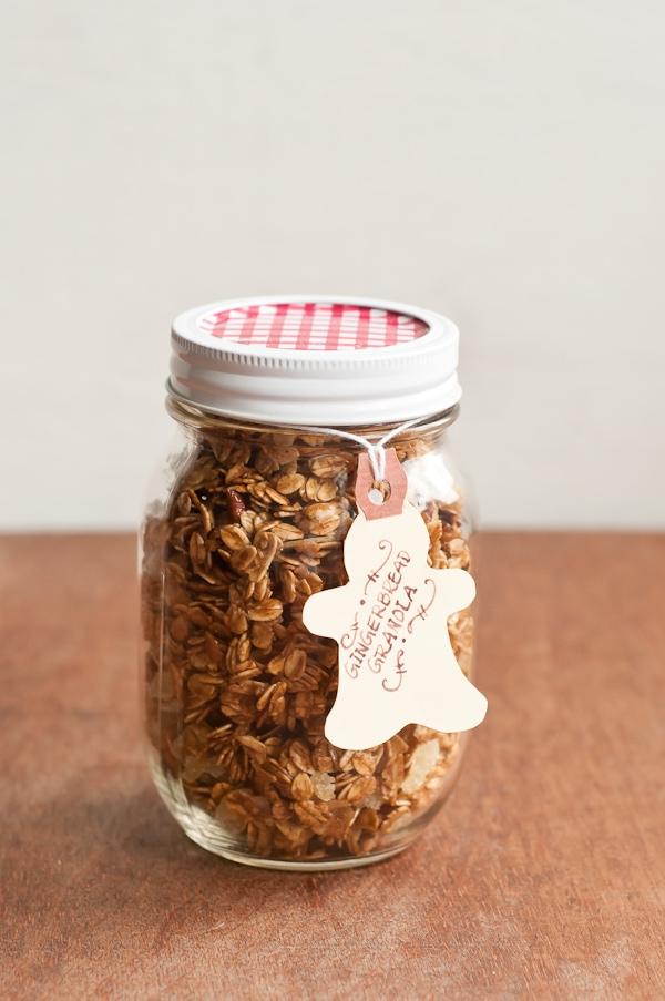 gingerbread granola in jar
