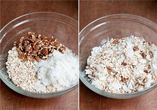 oats, coconut, pecans