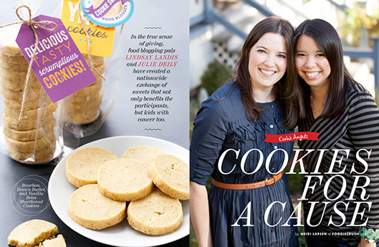 Great Food Blogger Cookie Swap in Foodie Crush Magazine