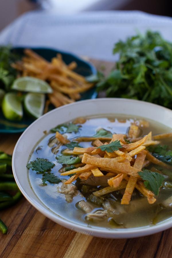 skinny poblano chicken soup
