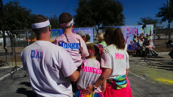 family at color me rad