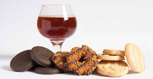 Beer and Girl Scout Cookies pairings