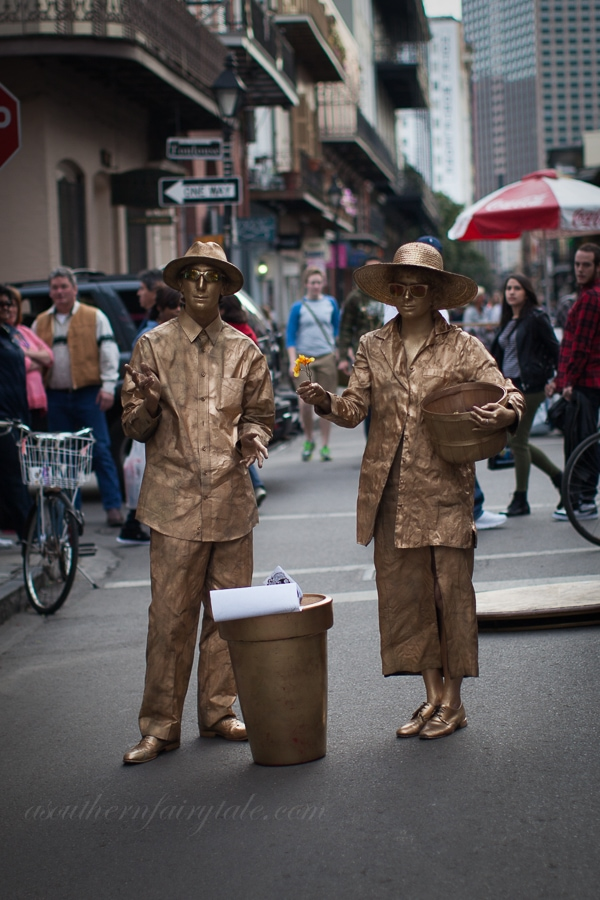 gold couple french quarter