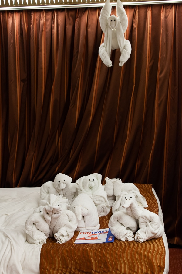 Towel Animals on The Carnival Magic
