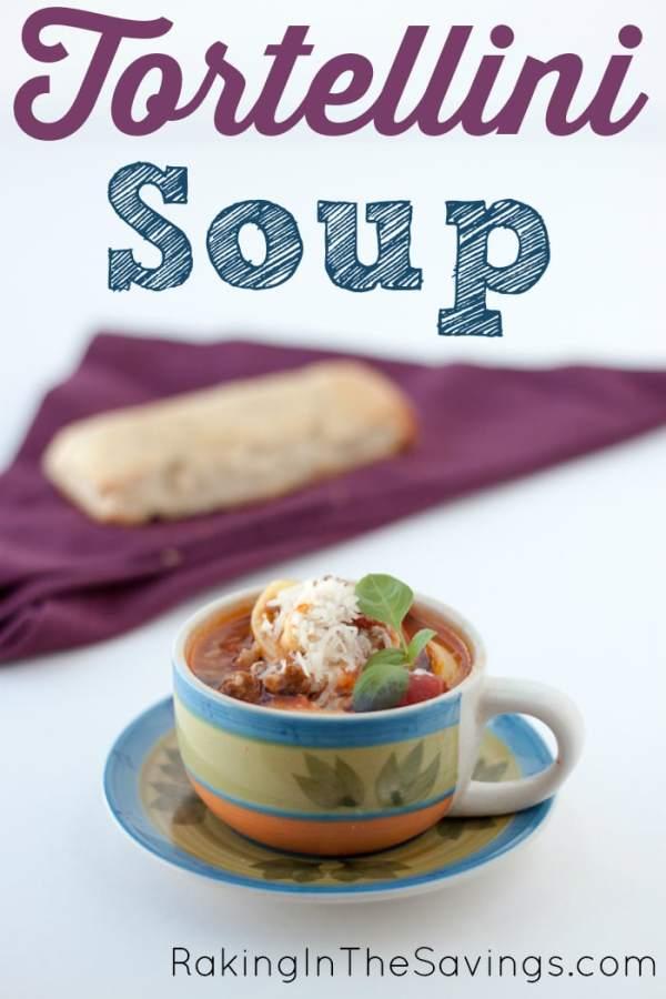 Tortellini Soup | Raking in The Savings