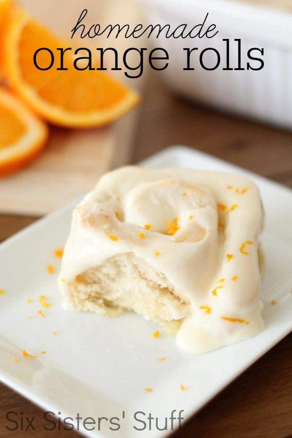 Homemade Orange Rolls | Six Sisters' Stuff