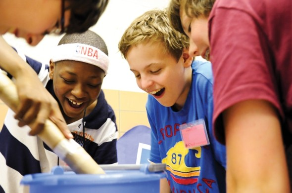 kids at camp invention