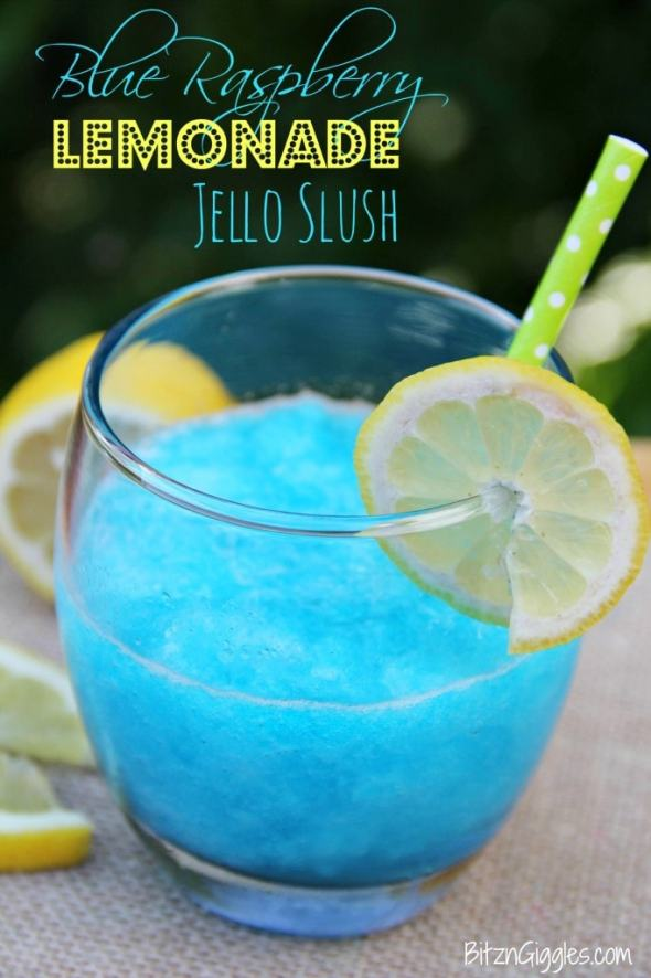 Blue Raspberry Lemonade Jello Slush | This Silly Girl's Life
