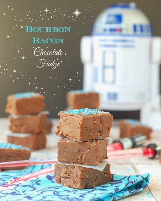 Bourbon Bacon Chocolate Fudge by The Sweet Chick