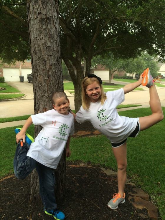 Kids posing before Camp Invention