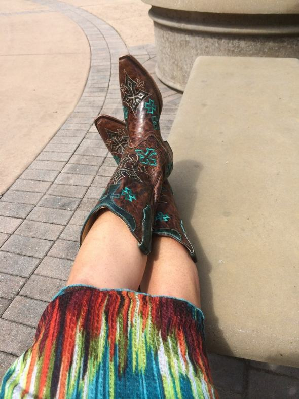 Corral Boots and Sundress