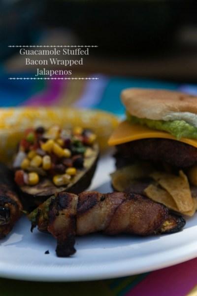guacamole stuffed bacon wrapped jalapenos