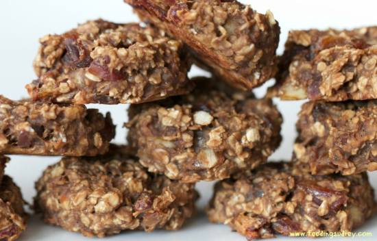 4 ingredient banana snack cookies from Feeding Audrey