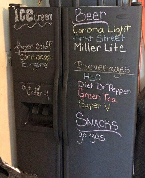 Easy DIY Chalkboard Refrigerator