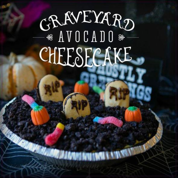 avocado cheesecake for halloween