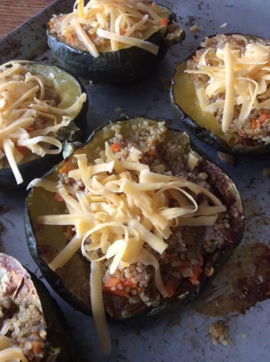 Quinoa Stuffed Acorn Squash from  Real Life Health Blog