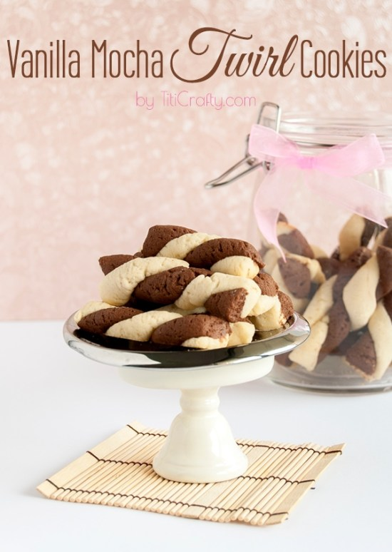 Vanilla Mocha Twirl Cookies from TiTi Crafty