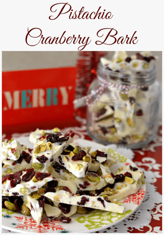 Pistachio Cranberry Bark from Flour on My Face