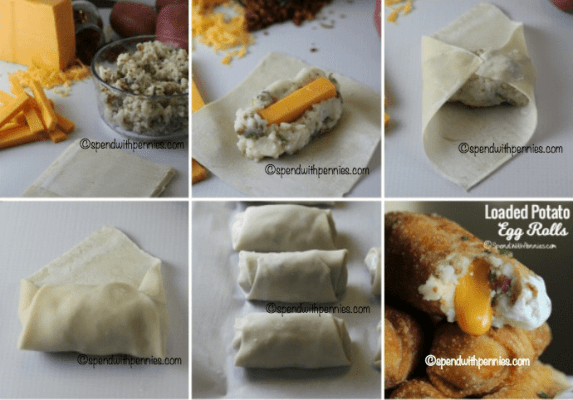 Loaded Mashed Potato Eggrolls from Spend With Pennies