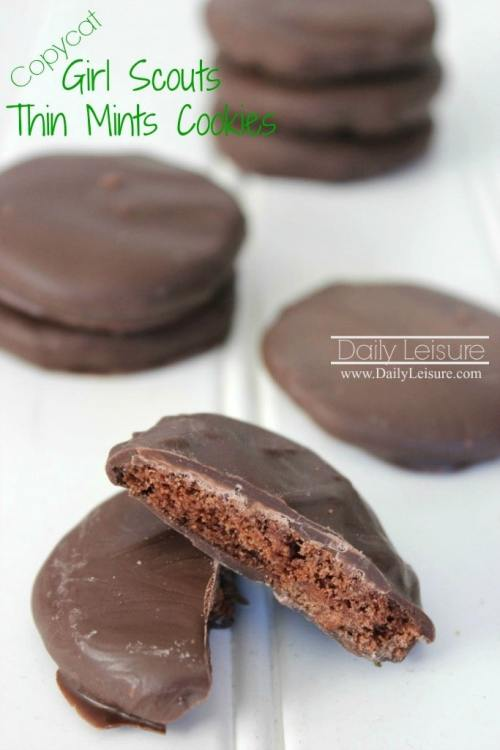 Copycat Thin Mint Cookies from Daily Leisure