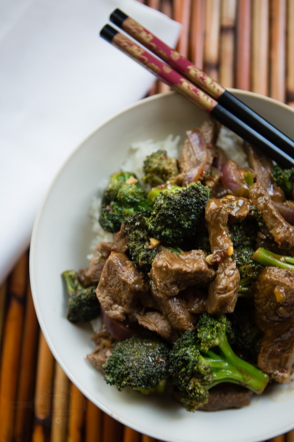 delicious spicy ginger beef and broccoli stir fry