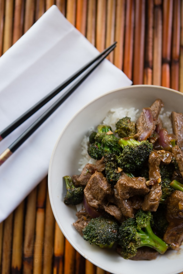Spicy Garlic beef and broccoli stir fry