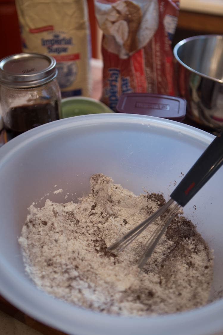 chocolate cobbler ready to make