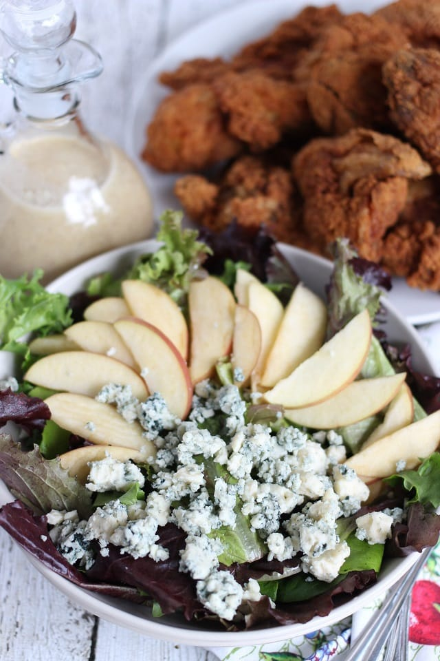 apple walnut and blue cheese salad from Mama Loves Food