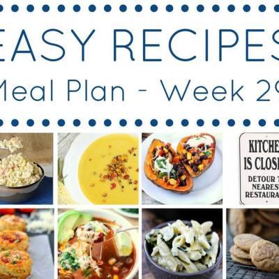 weekly meal plan week 29