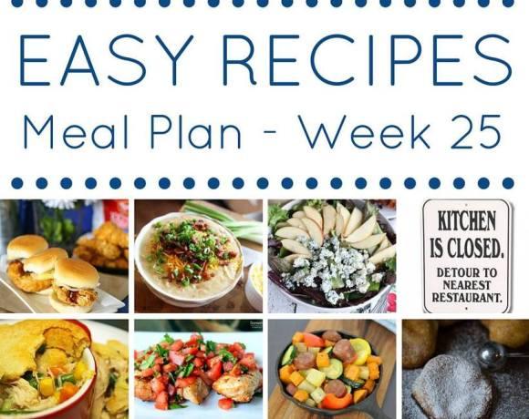 Weekly Meal Plan {Week 25}