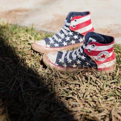 American Flag Converse