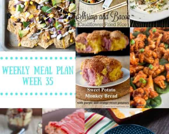 Weekly Meal Plan {Week 35}