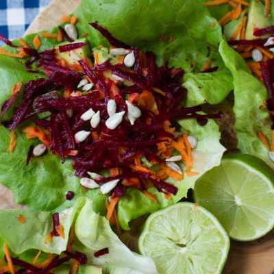 beet, carrot, and avocado salad tacos | A Southern Fairytale