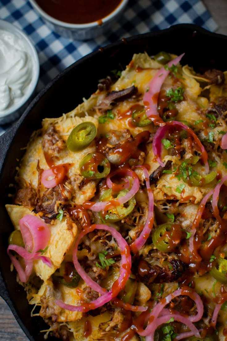 4 Cheese Pulled Brisket Tex Mex Nachos