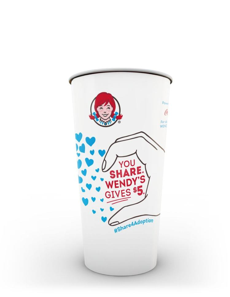 Wendy's Sharing is Caring #ShareForAdoption Cup